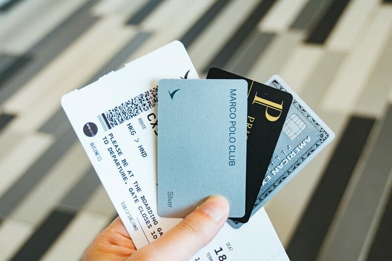 搭乗チケットとカード