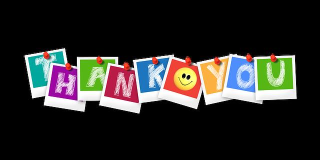 感謝の気持ちを表す「thank you」