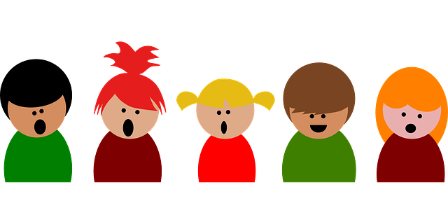 歌を歌っているグループのイメージです。