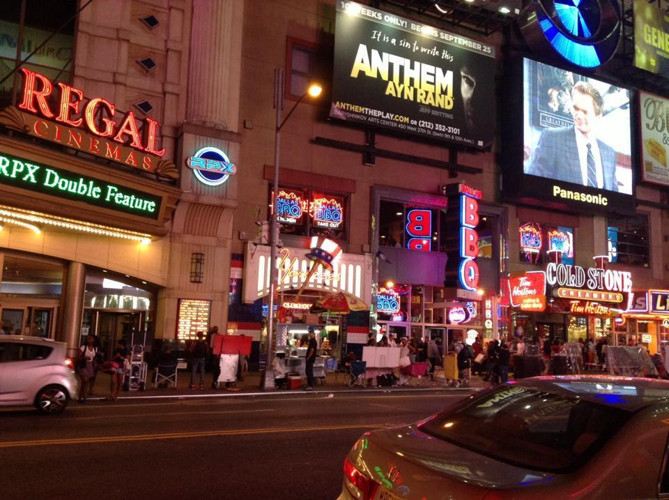 ニューヨークの夜の街