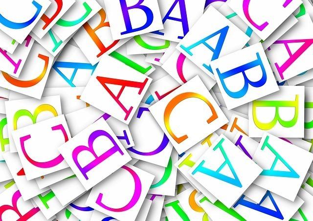 アルファベットのカード
