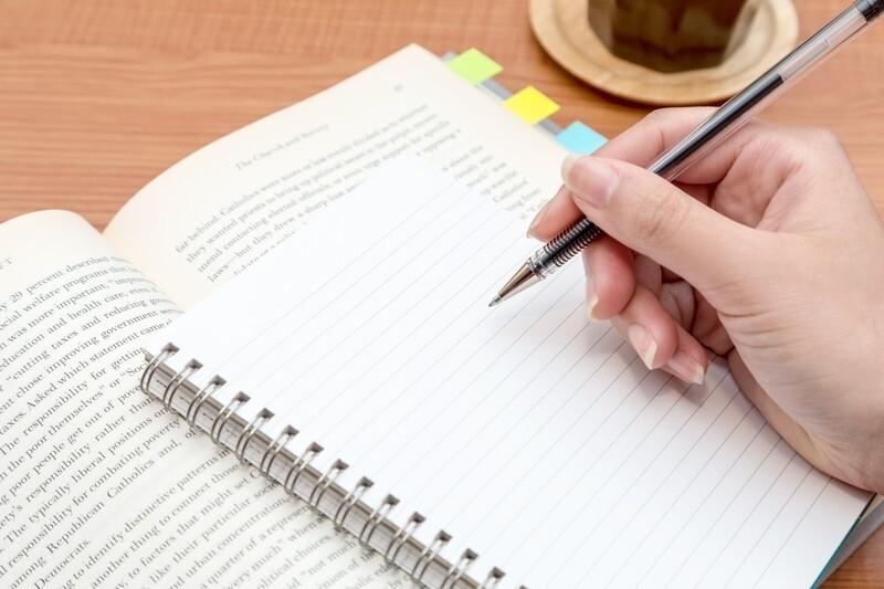 メモ帳と英文