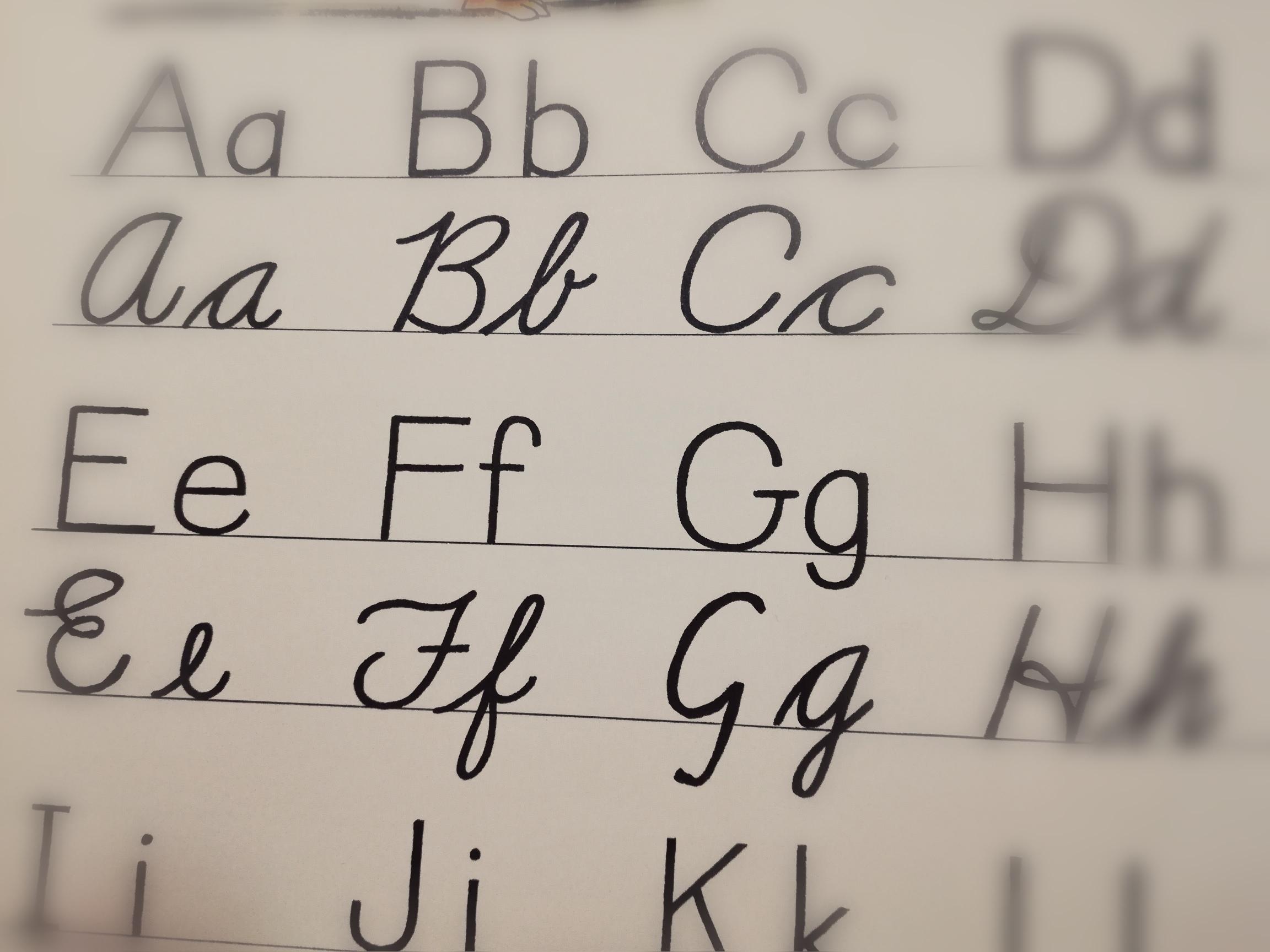 アルファベットの写真です。