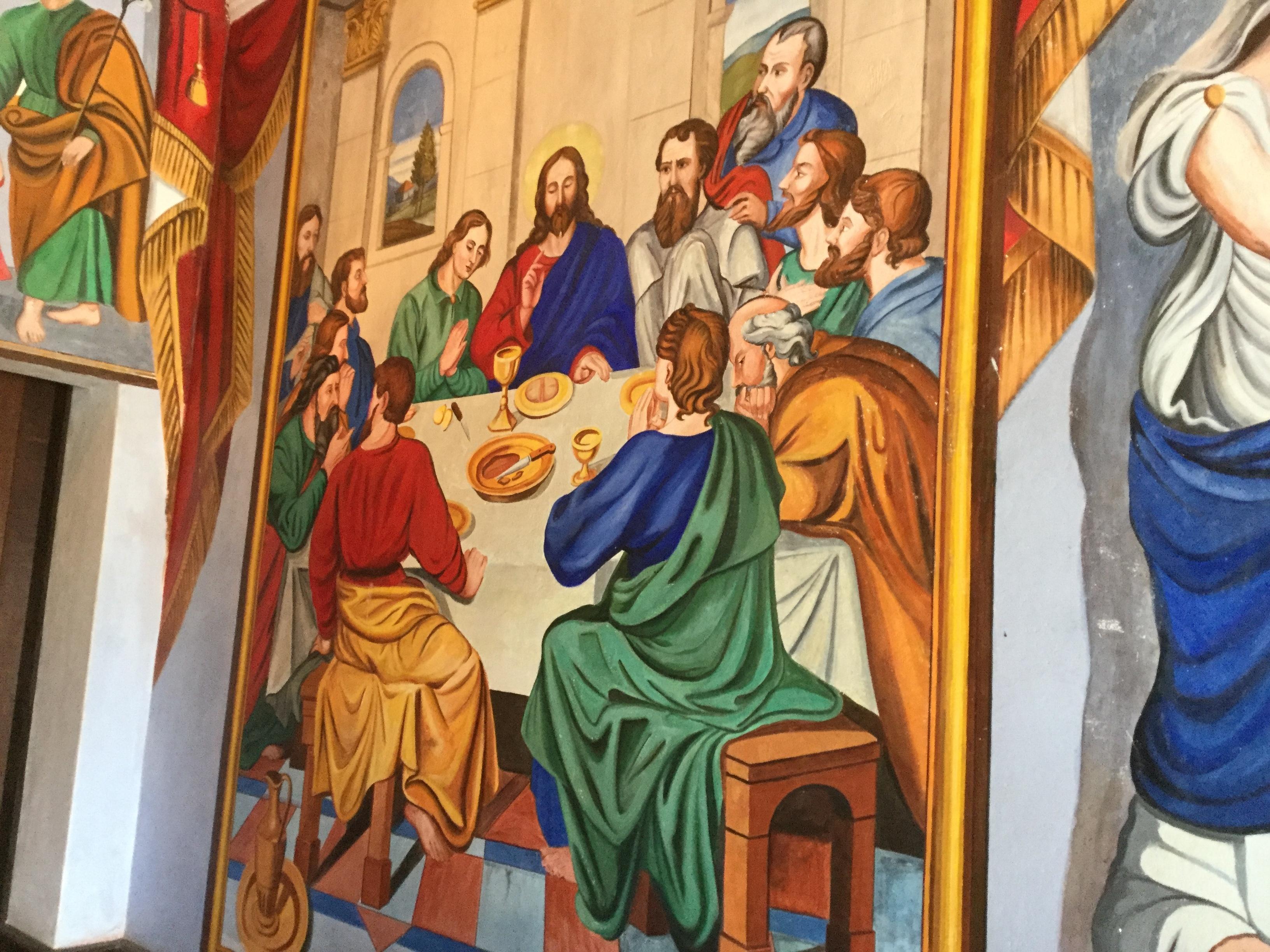 最後の晩餐の壁画です。
