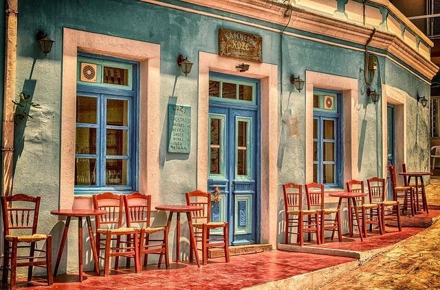 海外のレストランの外観写真です。