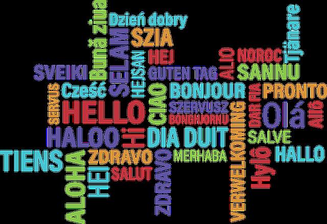 色々な国の言葉でハローを表した写真です。