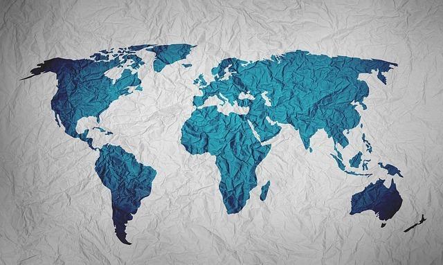 世界地図のイメージです。