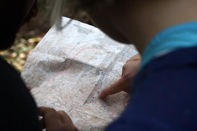 地図を見る人の写真