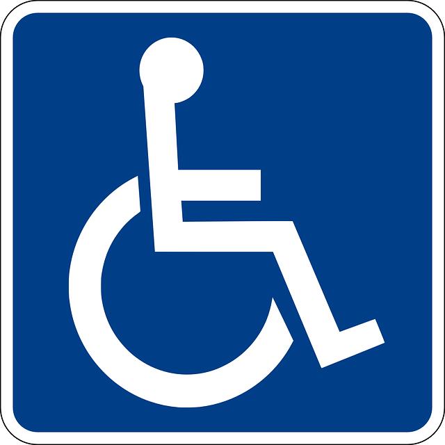 車椅子の標識