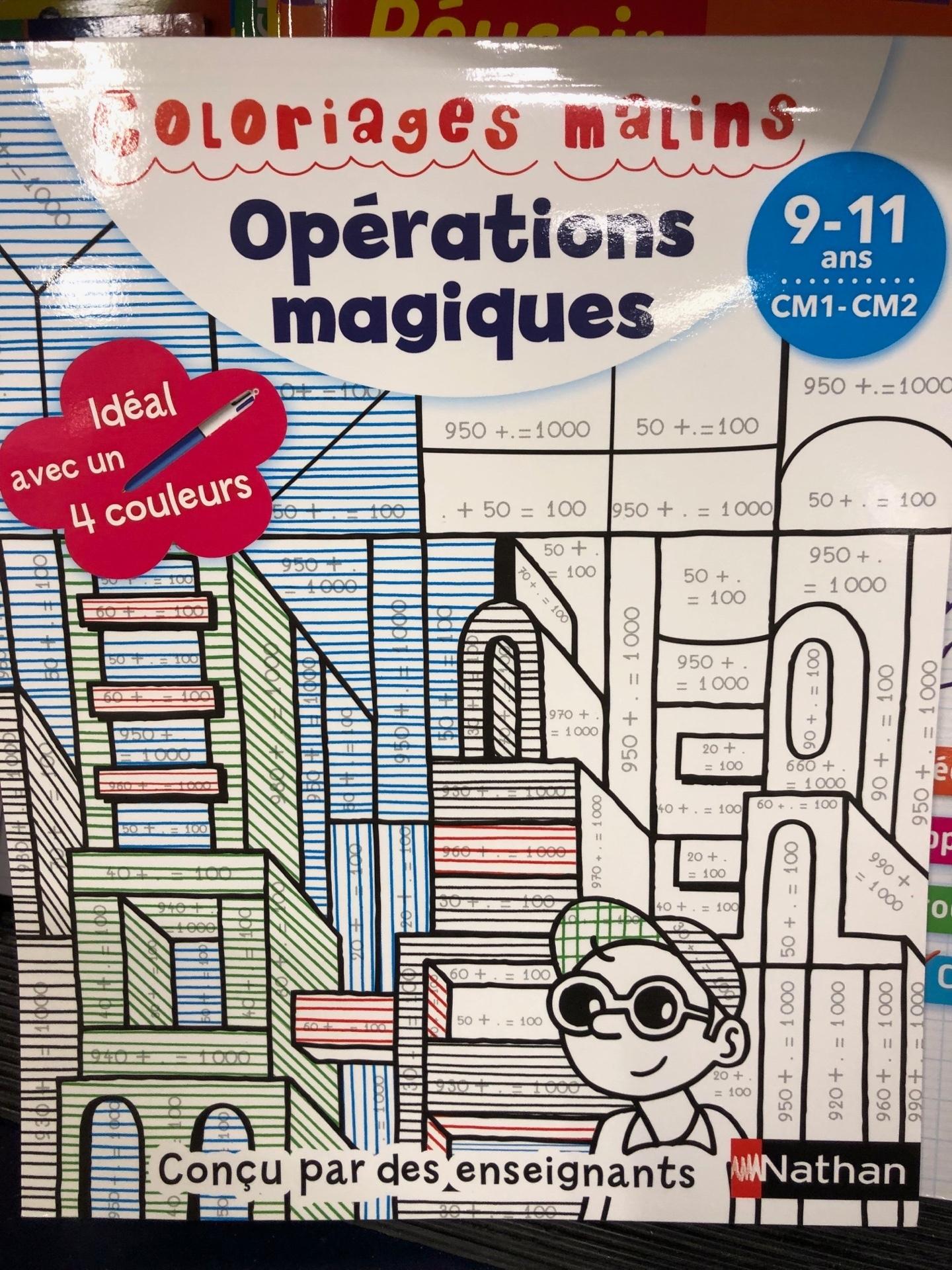 フランスの色ぬり足し算ワークブック