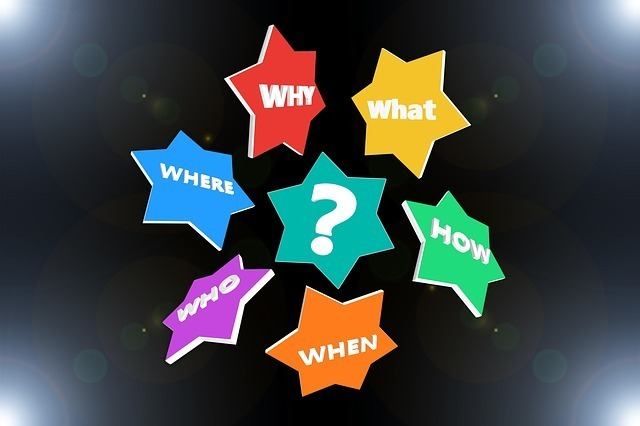why,what,whre,who,when,how