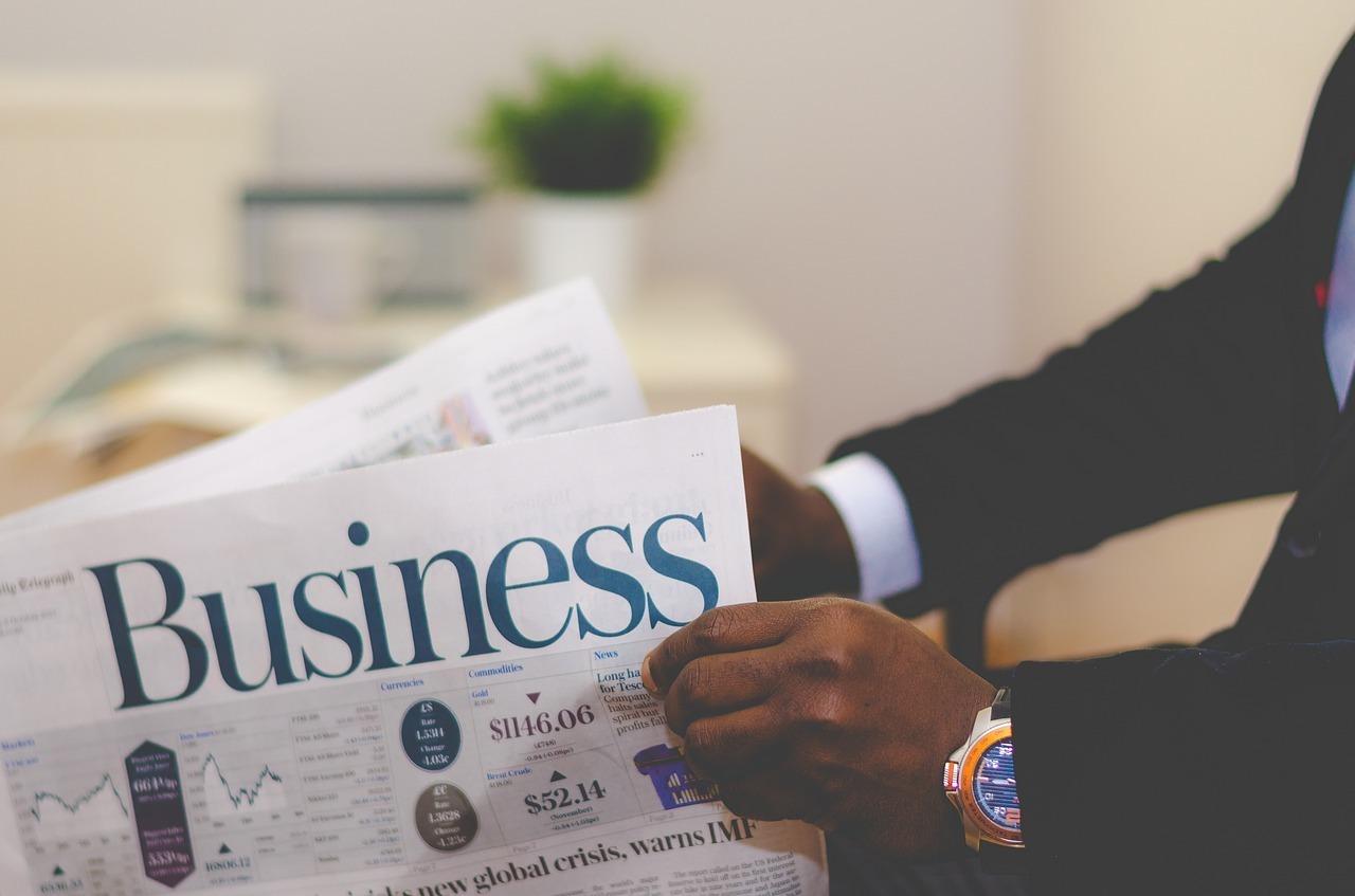 ビジネス新聞、読んでいる