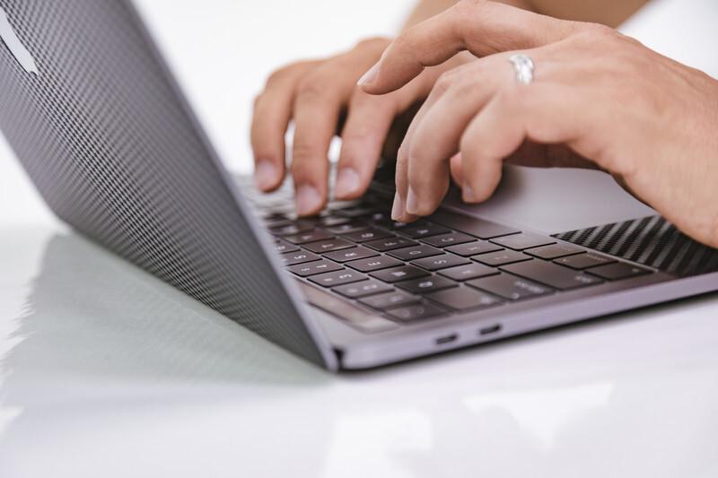 パソコンのタイピング
