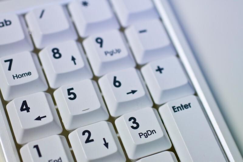 数字キーボードの写真