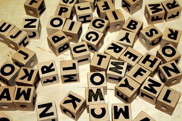 アルファベットのおもちゃ