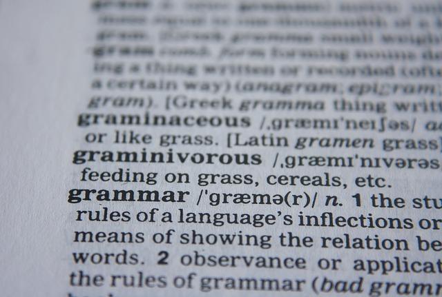 英語の辞書の写真