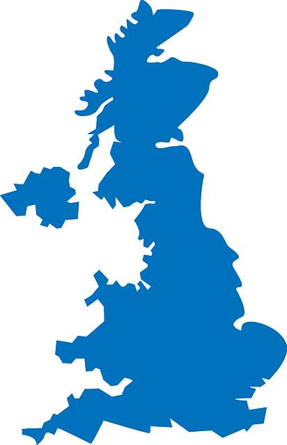 グレート・ブリテン及び北アイルランド連合王国の地図