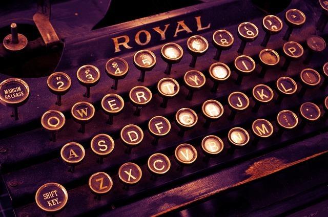 タイプライターです。