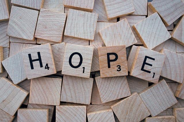 「HOPE」の積み木
