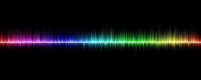 音の波形の写真