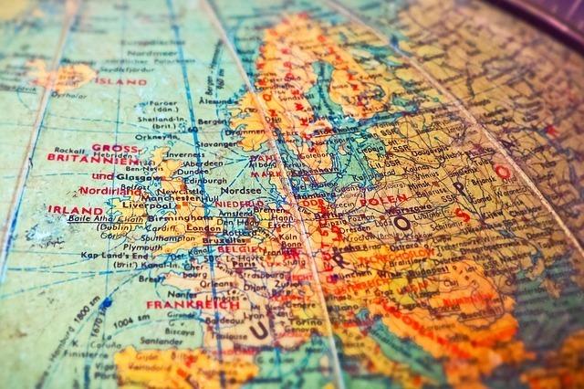 世界地図の中のイギリス