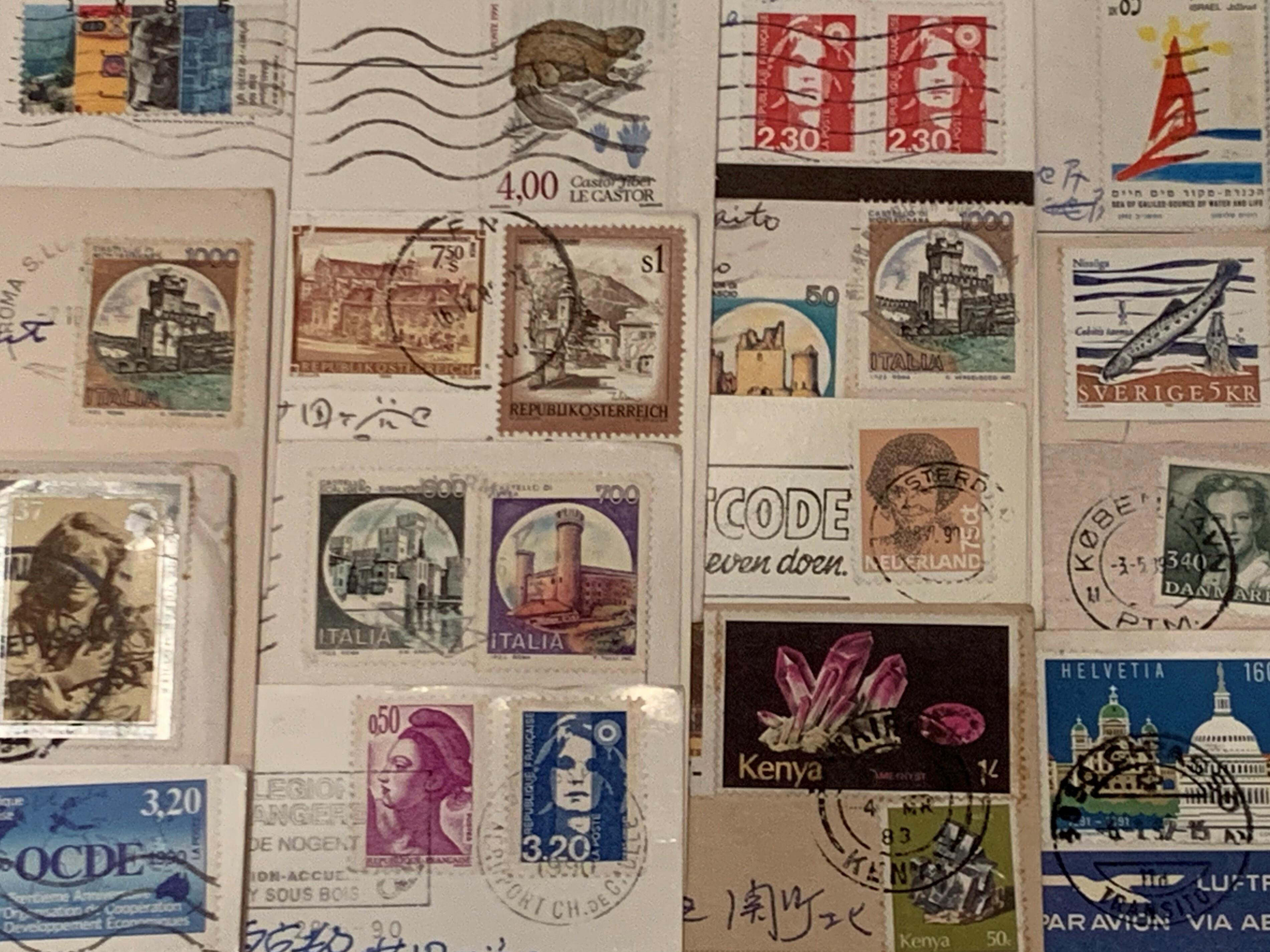 色々な国の古い切手と消印