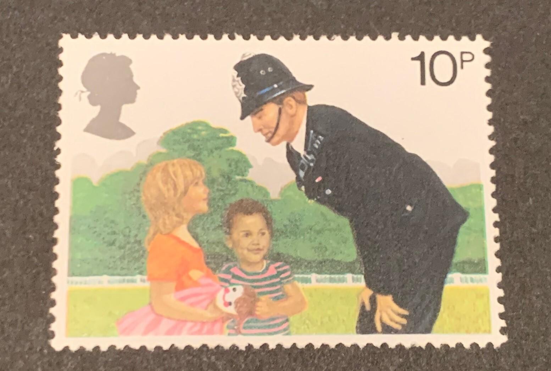警察官をデザインにしたイギリスの切手