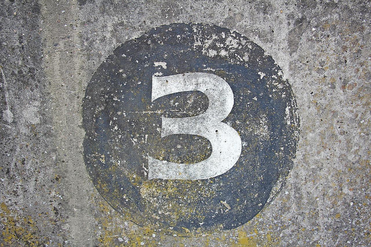 数字3の写真 Number Three