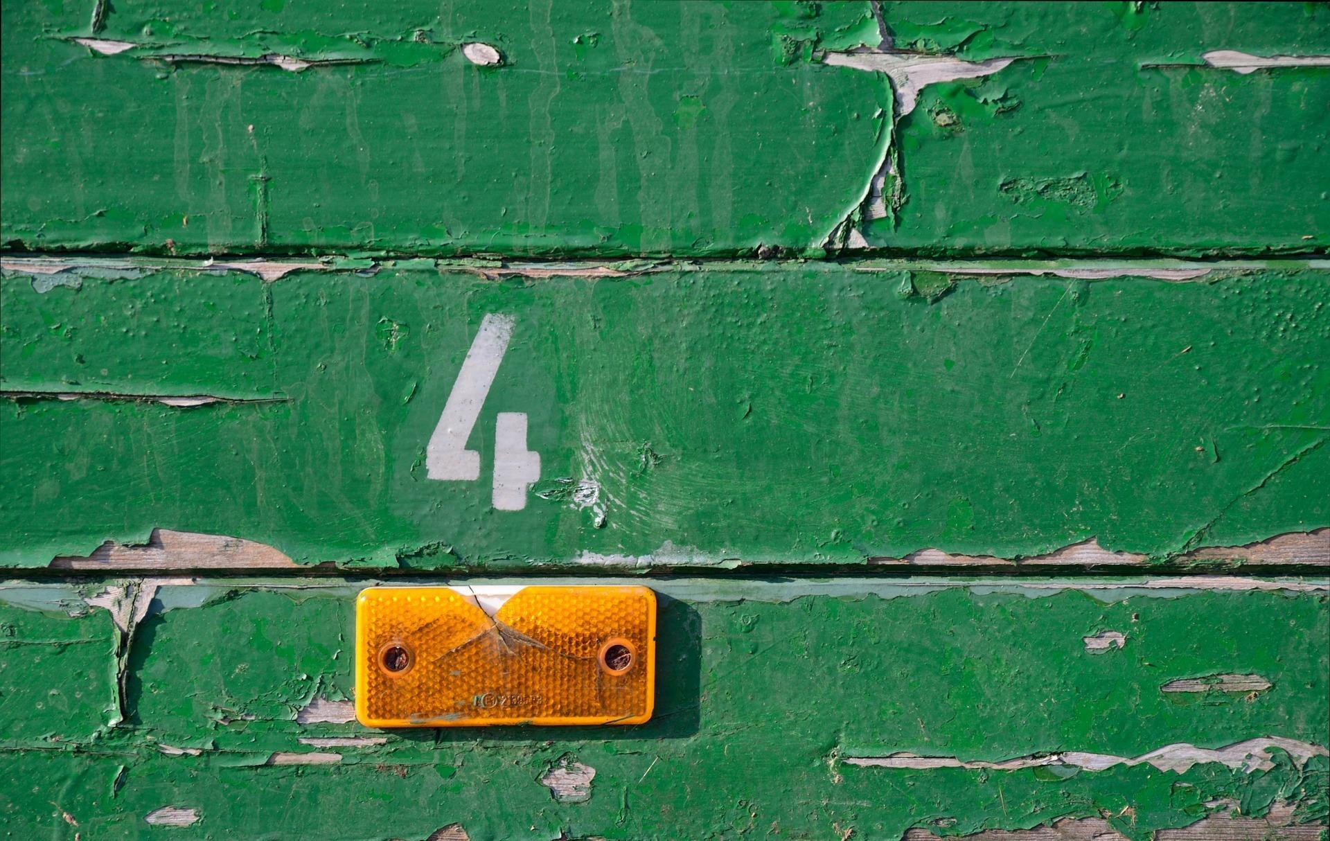 数字4の写真 Number Four