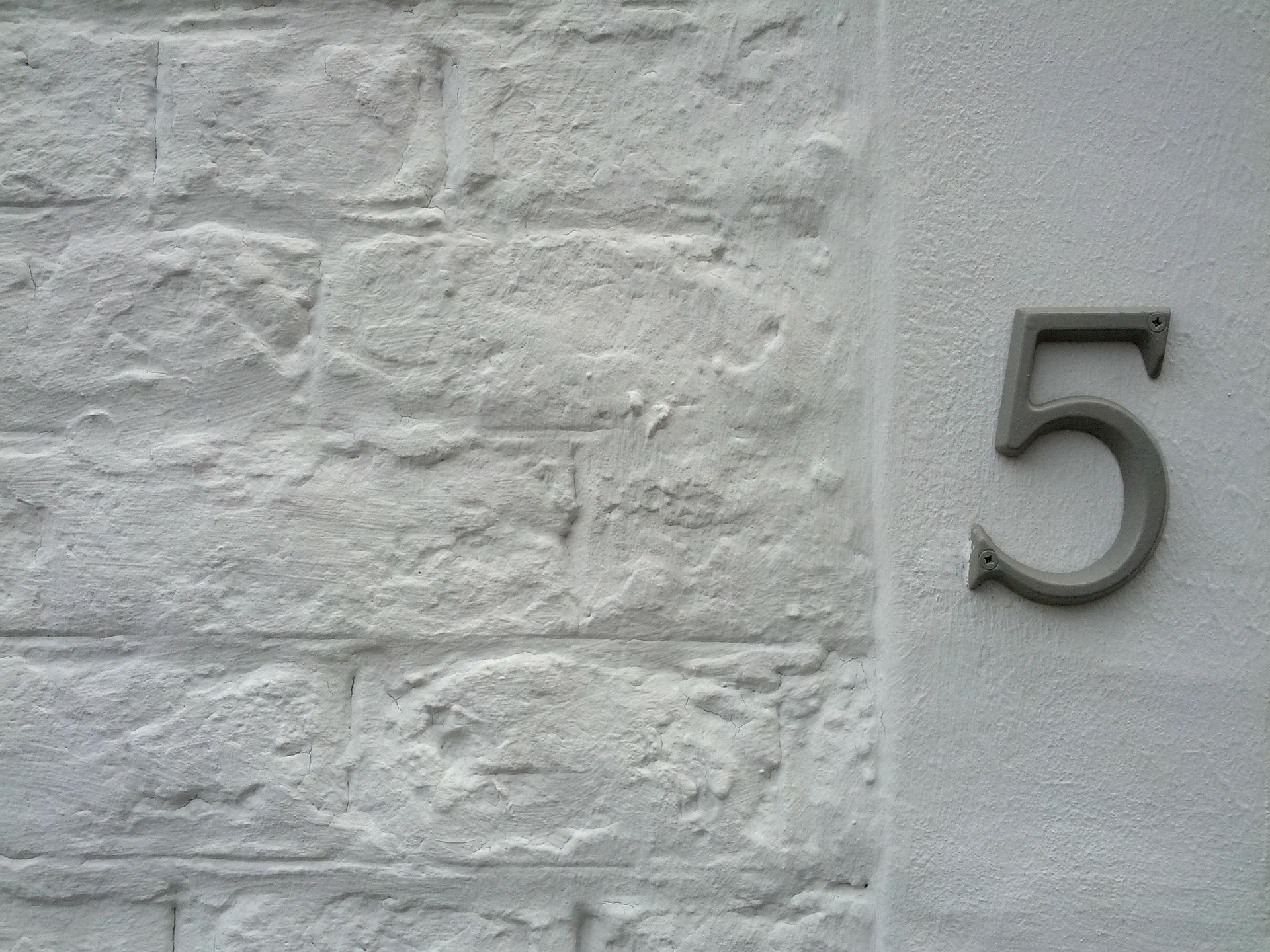 数字5の写真 Number Five