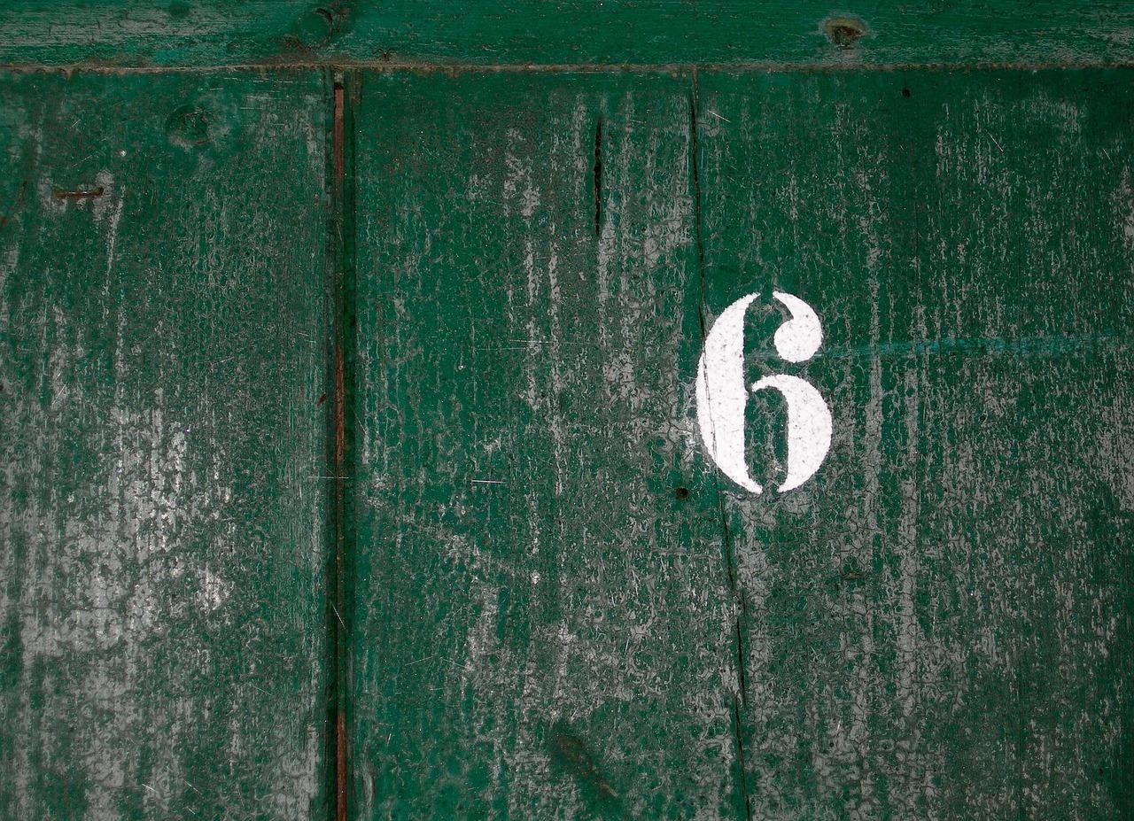 数字6の写真 Number Six