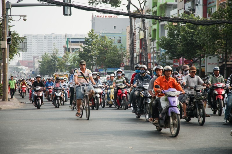 ベトナム街中の写真
