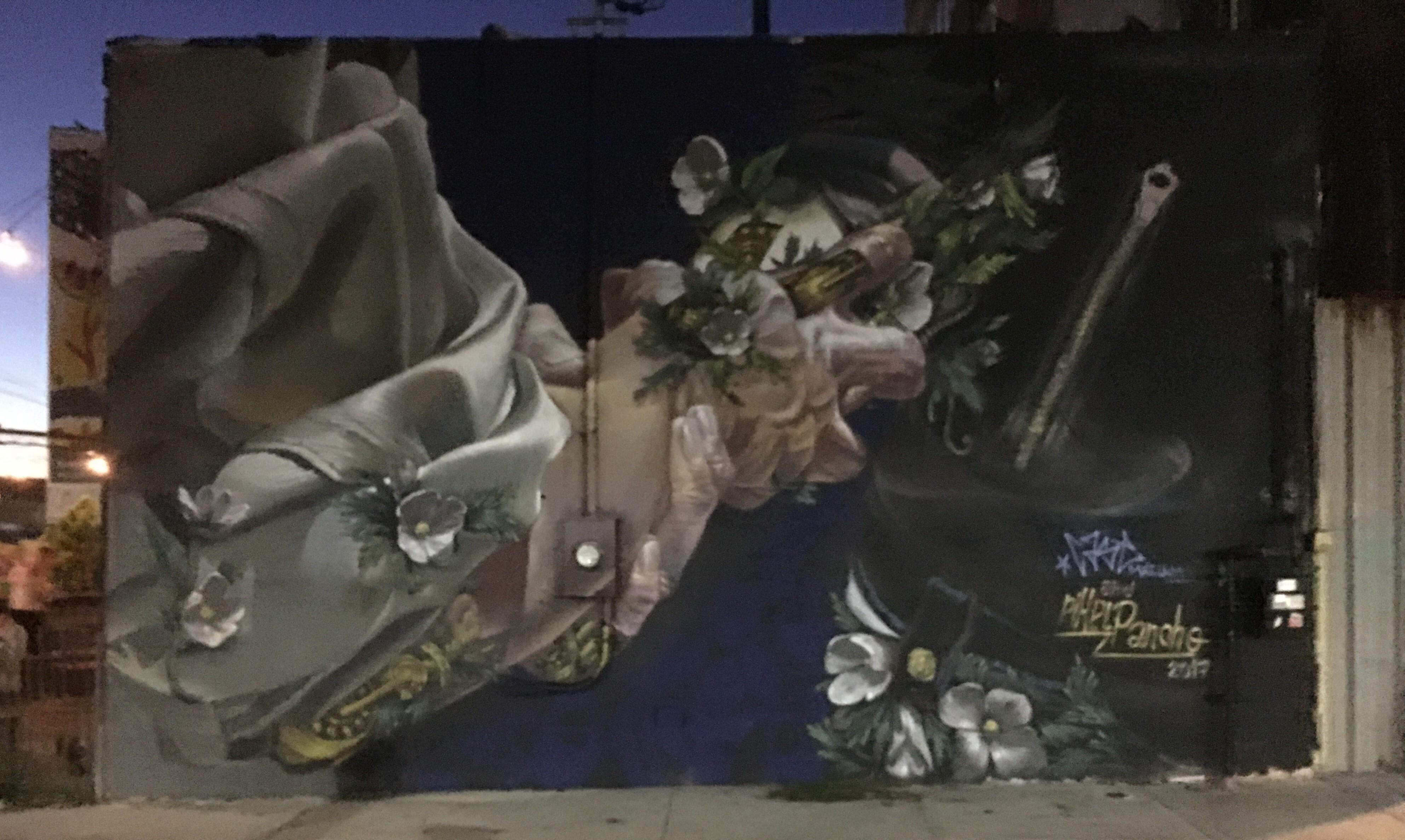 ブルックリンにある感動する壁に書かれた絵