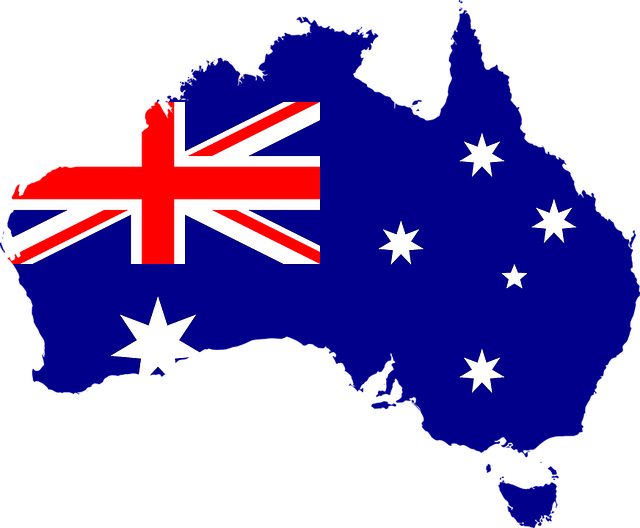 オーストラリア国旗が地図になっている写真