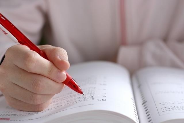 英語学習をしている写真