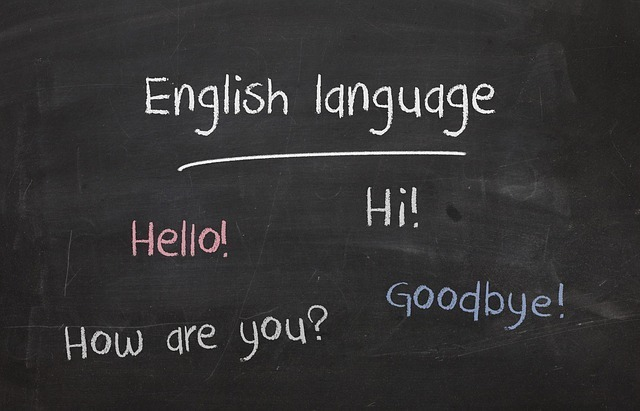English language hello! hi! how are you? goodbye!