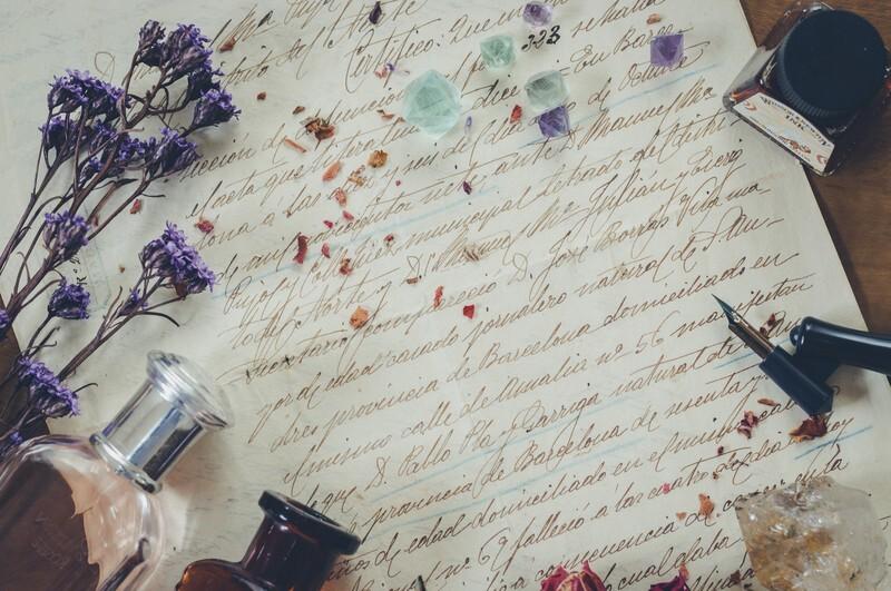 英語で書かれた手紙の写真