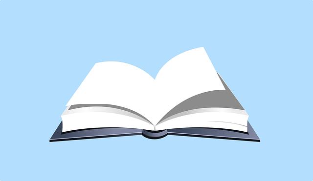 開いている本のイラスト